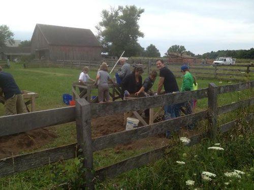 Work on the archeological dig